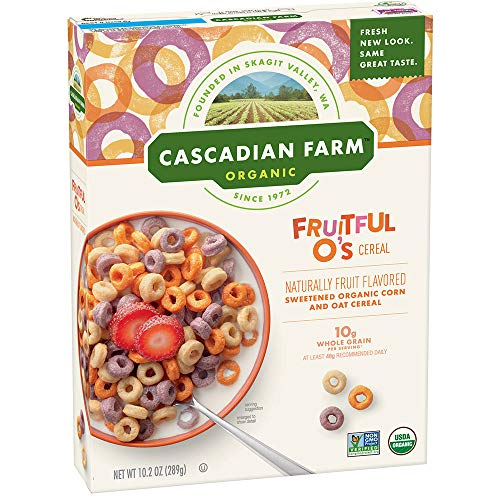 Cascadian Farm Organic Cereal, Fruitful Os, 10.2 oz