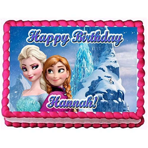 Frozen Ice Palace 1/4 Sheet Edible Photo Birthday Party Cake T...