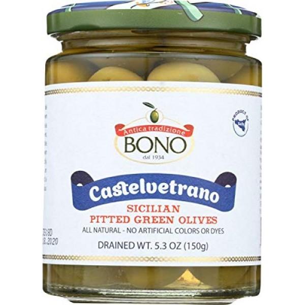 Bono Castelvetrano Pitted Sicilian Green Olives 5.3 ounces