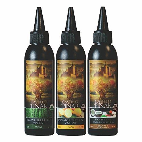 Castillo de Pinar 3-Pack Bundle - Thyme Balsamic Reduced Vinegar...