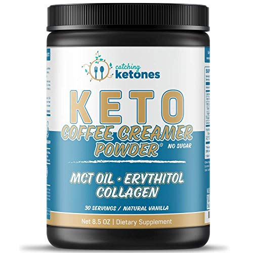 Catching Ketones Keto Coffee Creamer with MCT Oil, French Vanill...