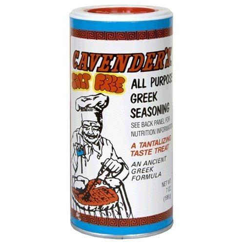 CAVENDERS Salt Free Greek Seasoning, 7-Ounce Pack of 3