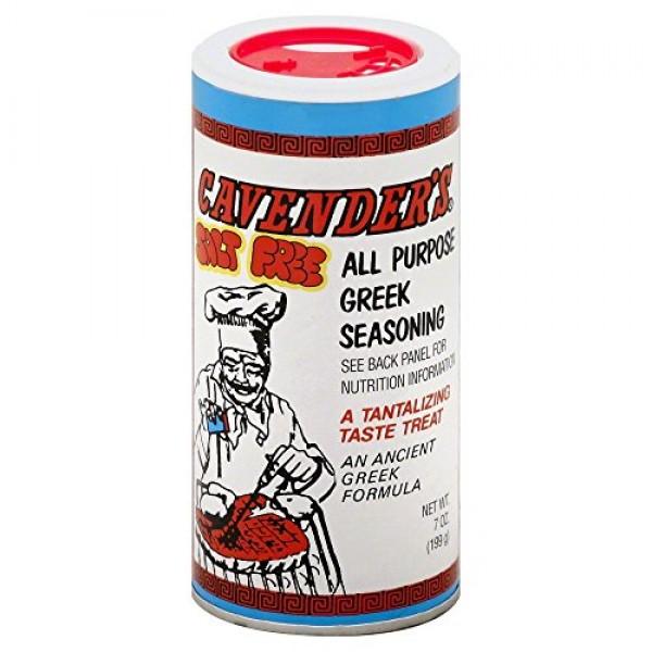 Cavenders SALT FREE All Purpose Greek Seasoning - 7 Oz 2-Pack