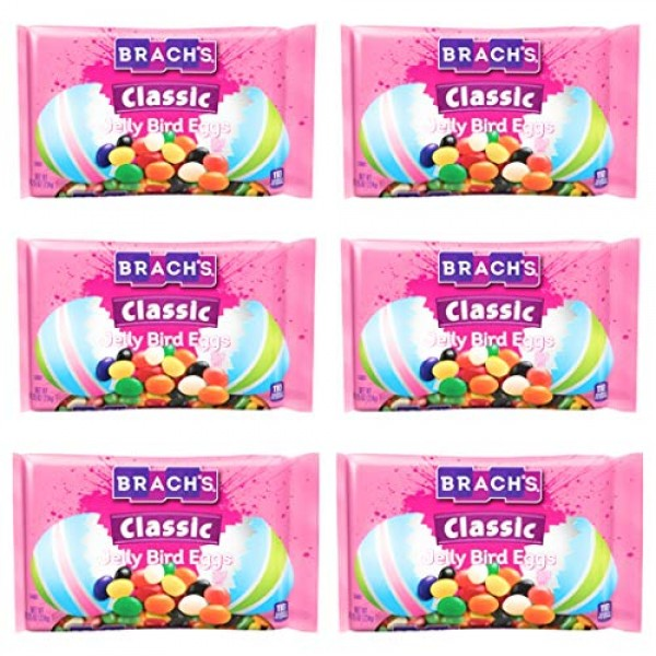 Brachs Classic Jelly Bird Eggs Easter Candy - Pack of 6 Bags - 8...