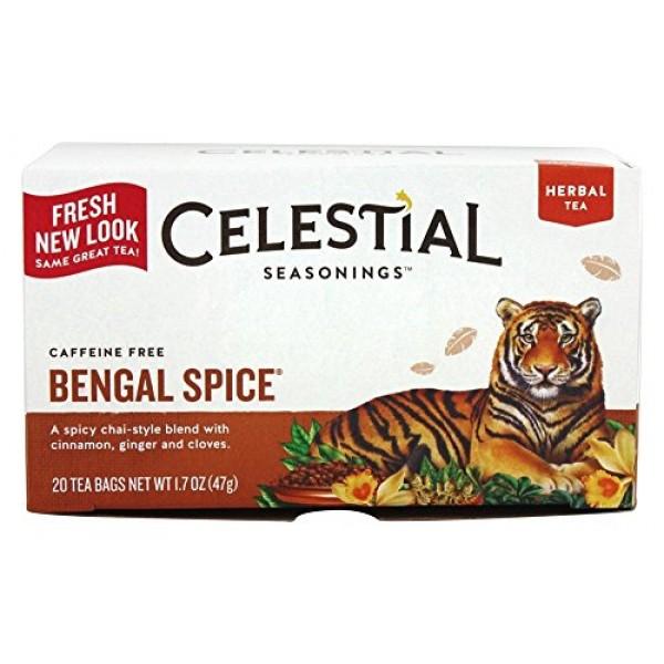 Celestial Seasonings Bengal Spice Herb Tea, 20 CT Pack of 2
