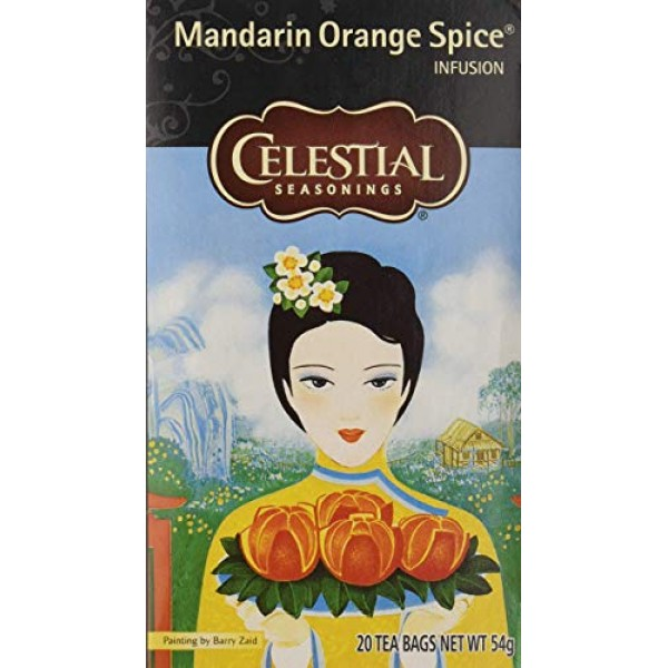 Celestial Seasonings Herb Tea Mandarin Orange Spice, 20-count P...