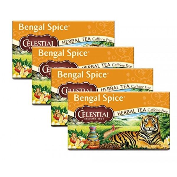 Celestial Seasonings Herbal Tea, Bengal Spice, 20 Count Pack of 4