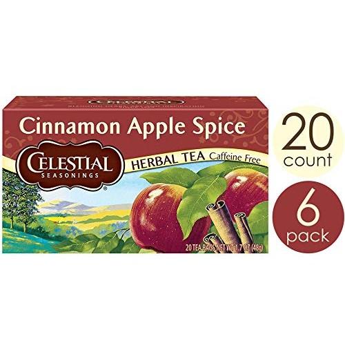 Celestial Seasonings Herbal Tea, Cinnamon Apple Spice, 20 Count ...