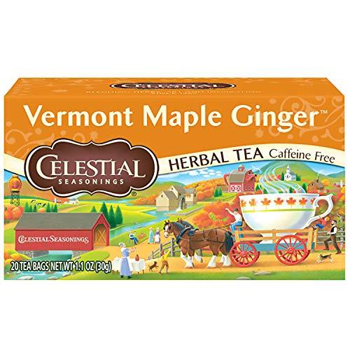 Celestial Seasonings Herbal Tea, Vermont Maple Ginger, 20 Count ...