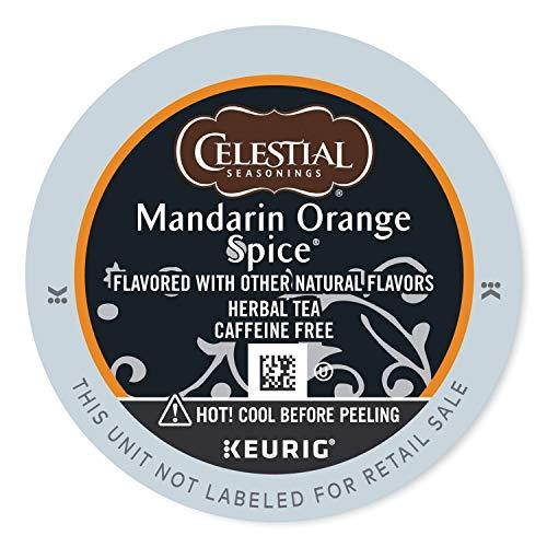 Celestial Seasonings Mandarin Orange Spice Herbal Tea, K-Cup Por...