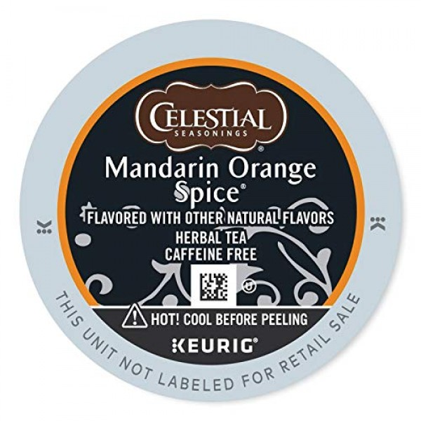 Celestial Seasonings Mandarin Orange Spice Herbal Tea, K-Cup Por...
