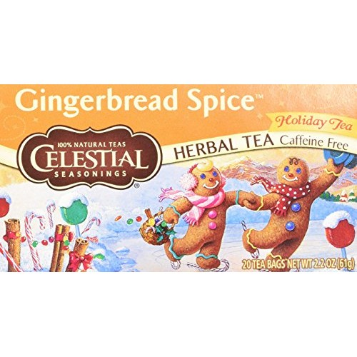 Celestial Seasonings Holiday Tea Gingerbread Spice Herb Tea, 20-...