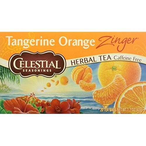 Celestial Seasonings Herb Tea Tangerine Orange Zinger, 20-count ...