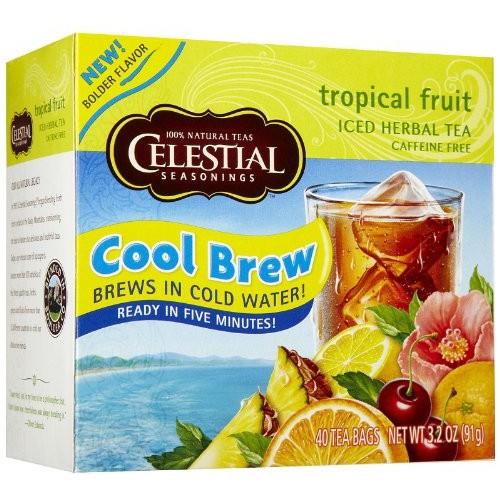 Celestial Seasonings Cool Brew Tropical Fruit Ice Tea, 40-count ...