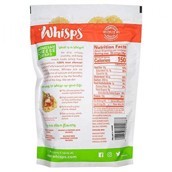 Cello Whisps All Natural Non-GMO Gluten Free Parmesan Cheese Cri...