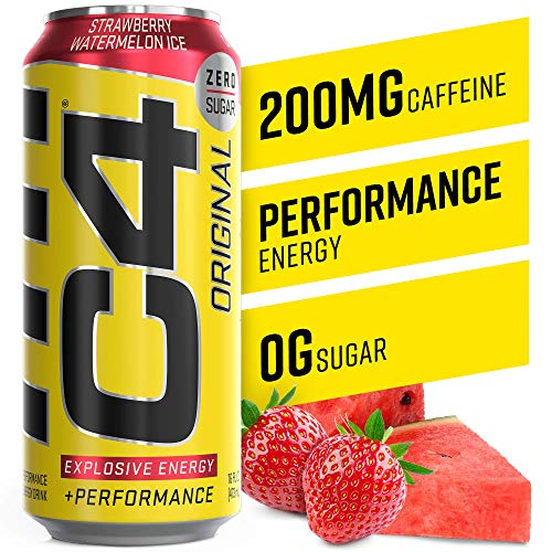 C4 Original Sugar Free Sparkling Energy Drink Strawberry Waterme...