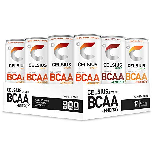 CELSIUS BCAA +Energy Sparkling Post-Workout Recovery & Hydration...