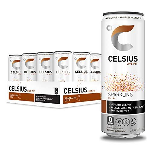 CELSIUS Sparkling Cola Fitness Drink, Zero Sugar, 12oz. Slim Can...