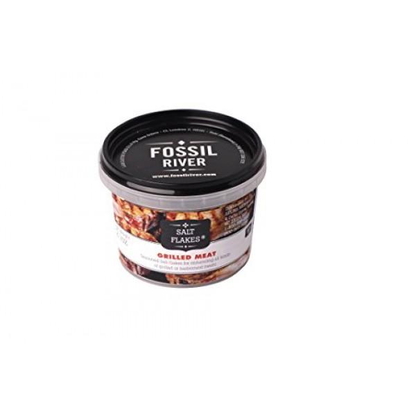 Celtic Sea Salt Fossil River Salt Flakes For Grilled Meat, 2.12 Oz