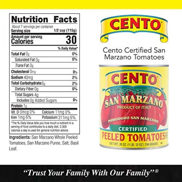Cento Certified San Marzano Whole Peeled Plum Tomatoes, 28 Oz, P...