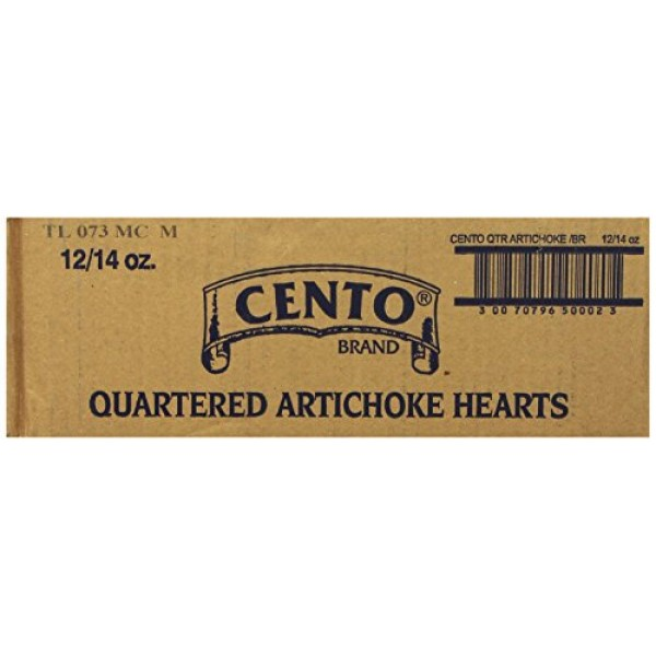 Cento Quartered Artichoke Hearts in Brine, 14-Ounce Cans Pack o...