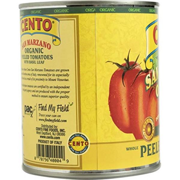 Cento San Marzano Organic Peeled Tomatoes, 28 Ounce Pack of 6