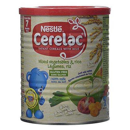 Nestle Cerelac, Mixed Vegetables and Rice with Milk, Stage 2, 40...