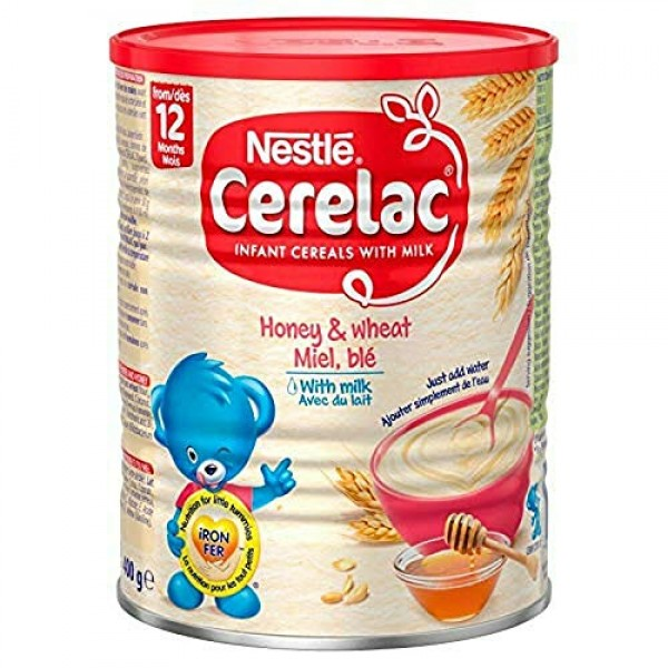 Cerelac Nestle, Honey and Wheat with Milk, 14.11 Ounce Can.