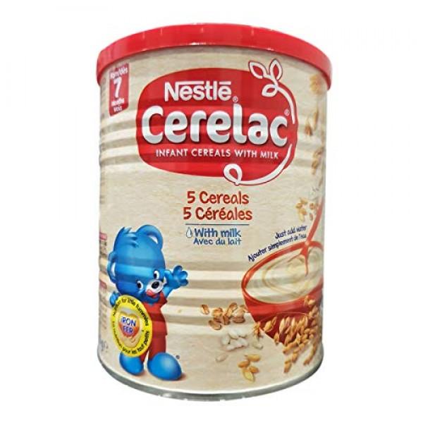 Nestle Cerelac 5 Cereals With Milk 400g