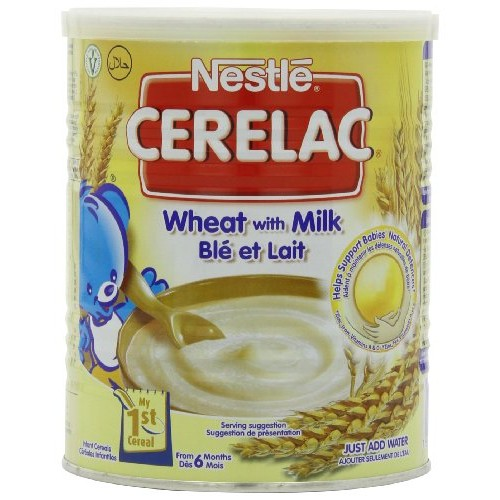 Nestle Cerelac, Wheat With Milk, 14.11-Ounce Cans Pack of 4