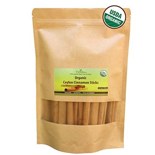 Ceylon Flavors organic Ceylon cinnamon sticks 3.5 oz 3 True...