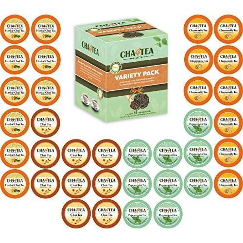 Cha4TEA 36-Count Herbal Tea Pods for Keurig K-Cup Brewer Pepper...