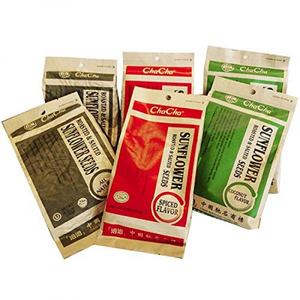 Chacha Sunflower Roasted and Salted Seeds Special Package 3 Fla...