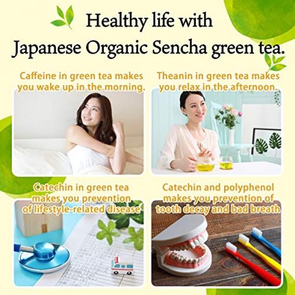 Green Tea leaves Sencha, JAS Certified Organic,Japanese Uji-Kyot...