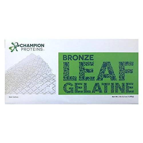 Bronze Leaf Gelatin Sheets, 300 Sheets, 150 Bloom, Champion Leaf...
