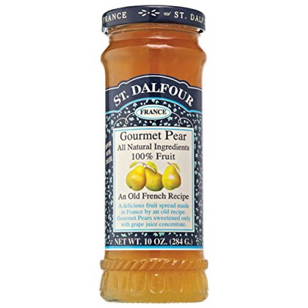 Charles Jacquin-St.Dalfour Consrv, Pear, 100% Fruit, 10-Ounce P...