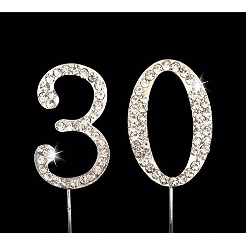 30th Birthday / Wedding Anniversary Number Cake Topper with Spar...