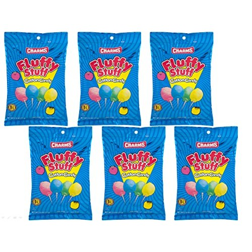 Fluffy Stuff Cotton Candy 2.5 Oz Theater Size Bags - Pack of 6