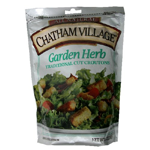 Chatham Village Homestyle Croutons, Garden Herb, 5-Ounce Bags P...