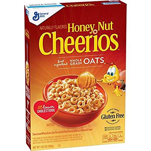 Honey Nut Cheerios 10.8 Oz, Gluten Free, Breakfast Cereal pack ...