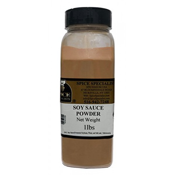 Soy Sauce Powder from Spice Specialist in Plastic Container 1 lb