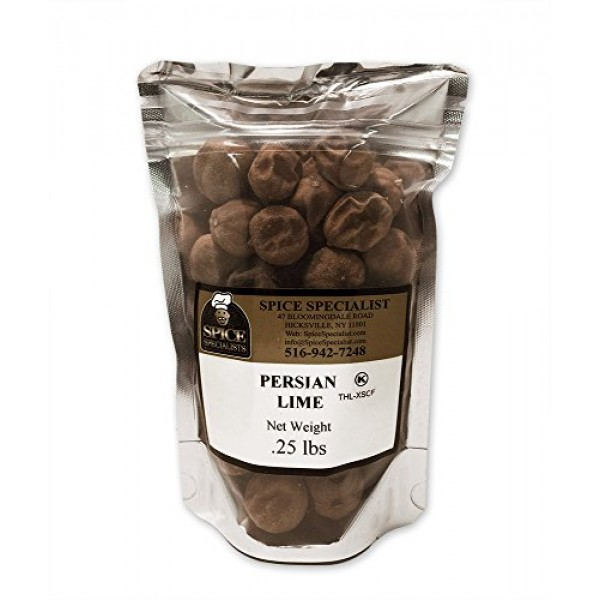 Chef Cheries Dried Persian Limes/Limu Omani in a .25 Pound Plas...