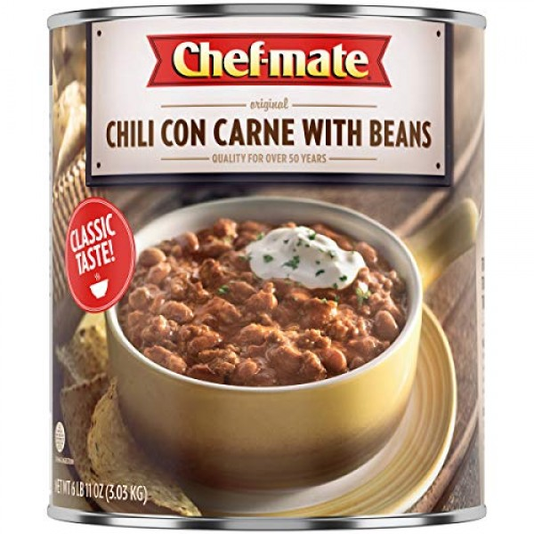 Chef-mate Beef Chili, Canned Beans with Meat, 6 lb 10 oz #10 Ca...