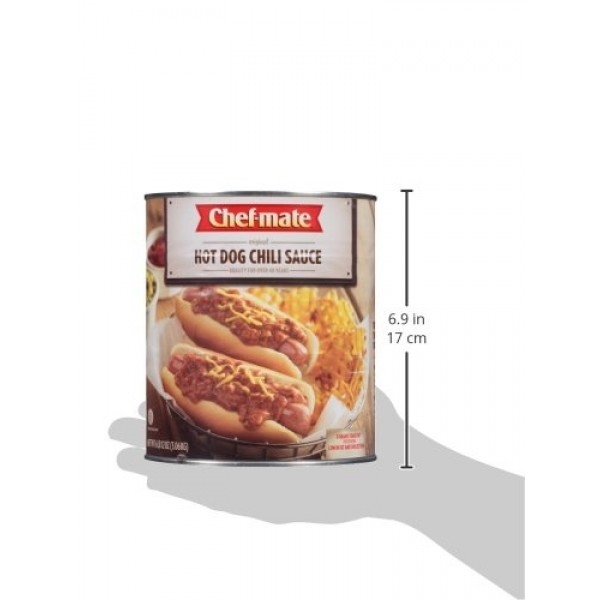 Chef-mate Hot Dog Canned Chili Sauce with Meat, Ready to Eat, 6 ...