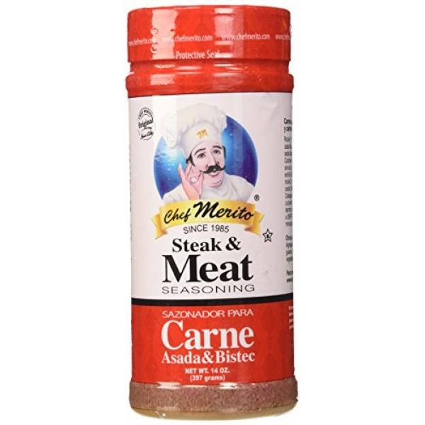 Chef Merito Carne Asada Meat Seasoning, 14 Ounce