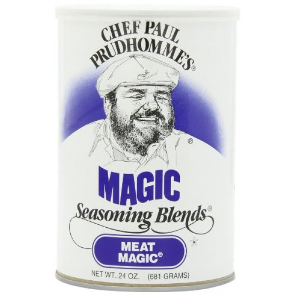 Chef Paul Meat Magic Seasoning, 24-Ounce Canisters Pack of 2