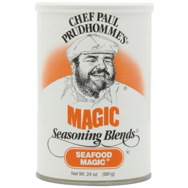 Chef Paul Seafood Magic Seasoning, 24-Ounce Canisters Pack of 2
