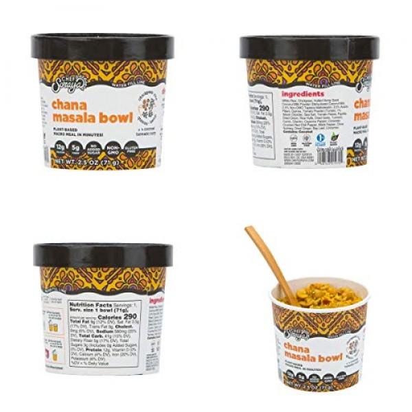 Chef Soraya Plant Based, Vegan, Multi Flavor 2.5oz bowl, 6 pack
