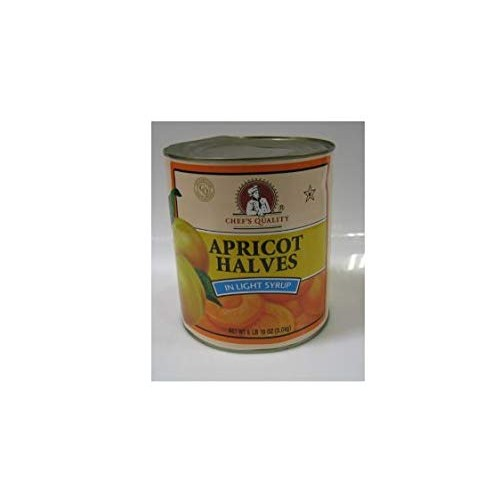 Chefs Quality - Apricot Halves in Light Syrup - 6 lb 10 oz can