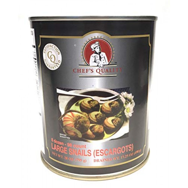 Chefs Quality Escargots Large Snails 28 Oz 17 Oz When Drained ...